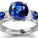 Violetish Blue to Blue Hue and Medium Tone Kashmir Sapphire with Diamonds