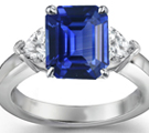 Ceylon Emerald Cut Sapphire Ring in Ring Canada Ring Size 10 Mens