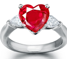 Ruby Rings in Platinum 500