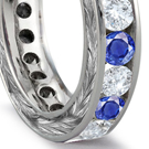 velvety sapphires sprinkled with brilliant white diamonds