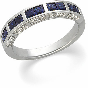 blue royal diamond shape rings anniversary bands gold white sapphire ring pear band