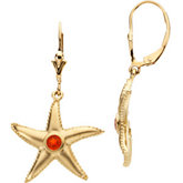 Starfish Earring Mountings Round Center
