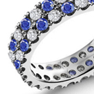 Sapphire Diamond Eternity Wedding Bands