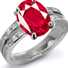 Ruby Eternity Ring, Ruby Anniversary Rings