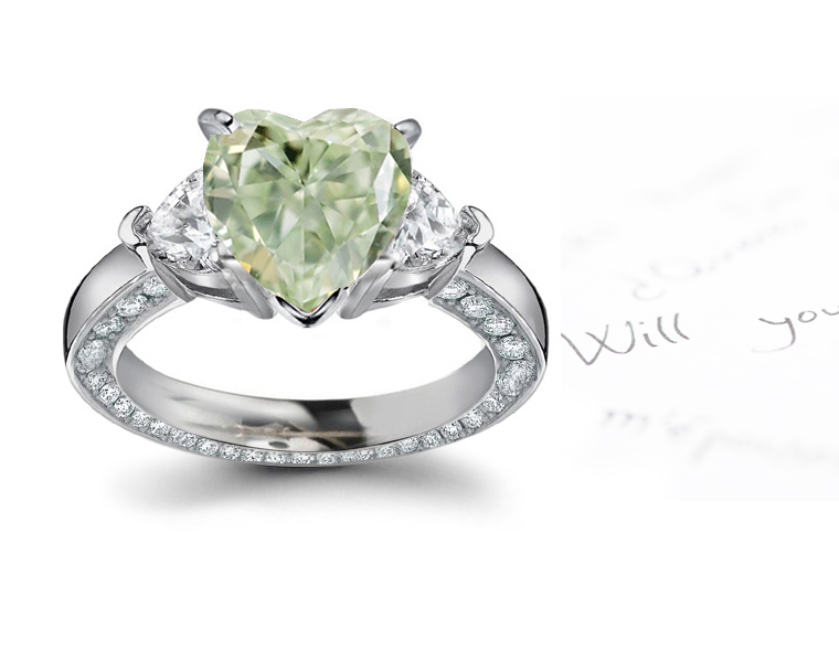 Green Diamonds - Colored Diamonds - Jewelry - Rings