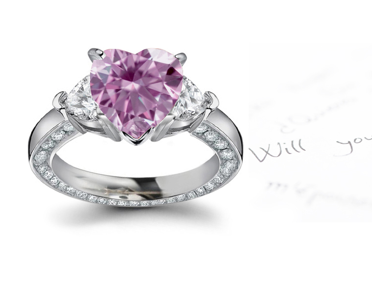 Buy Fancy Pink Diamond Rings Red Purple Diamond Wedding Bands