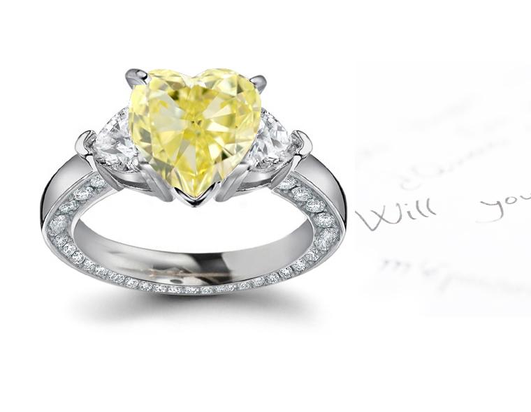 Yellow Diamonds Colored Diamonds Jewelry Rings