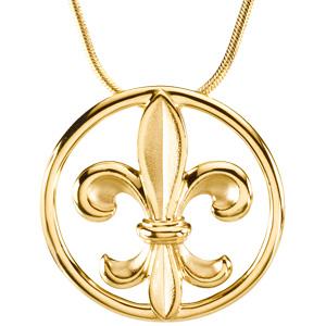 Fleur de lis jewelry fleur de lis pendant on an 18 snake chain new item coming soon aloadofball Choice Image