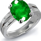 Cullinan Diamond Ring with Columbian Emeralds