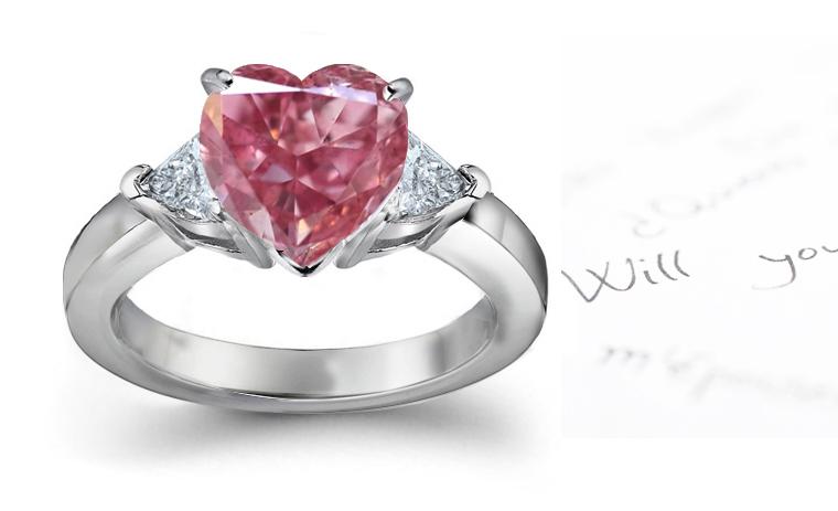 buy pink diamond engagement rings online shop rings now - Pink Diamond Wedding Rings