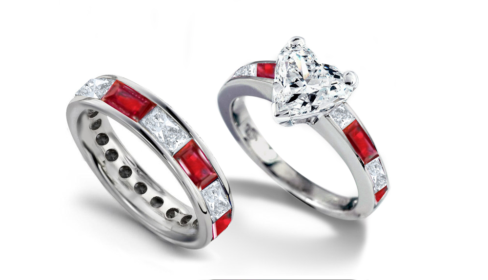 with engagement wedding rings prong oval wg ring three tapered white diamond jewelry nl in gold shaped stone ruby red set
