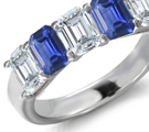 Mens Sapphire Ring Ring Size 9 to 12
