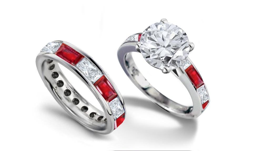 brilliant gifts apparel rings cut round diamond set wedding ring platinum jewellery p