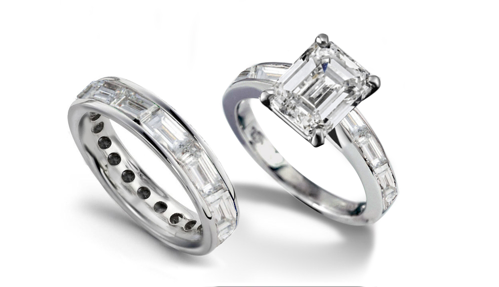 stones ring products baguette engagement adn with rings diamond wedding tapered side