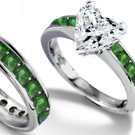 Emerald and Diamond Ring in Ring Size 6.75