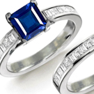 Mens Sapphire Diamond Rings in Gold