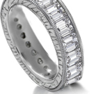 Cuts or photographs of diamond rings, showing sizes of stones and styles of mountings, with prices sent upon request