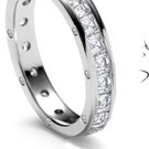 Graduated strands or revieres of diamonds in platinum points or the new gallery setting