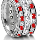 The wedding bands Brad Pitt codesigned with Damiani - a minmalist design, each ring featured two bands, one inside the other, loined by several little diamonds.