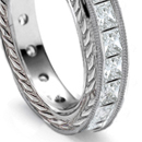 Gold or platinum, fancy or plain link bracelets, set at spaced intervals with diamonds