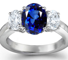 LADIES 14K WHITE GOLD GENUINE SAPPHIRE & DIAMOND RING SZ 7.25 1.50 TCW