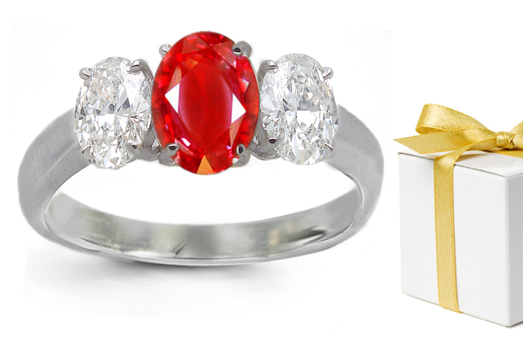 Ruby and Sapphire Wedding Rings