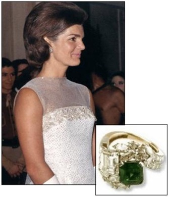 Jackie Kennedy's Emerald and Diamond Engagement Ring