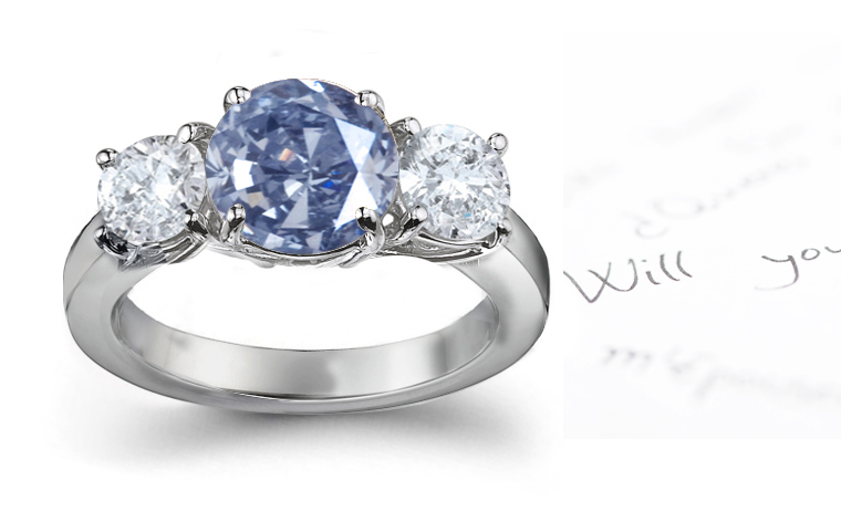 Colored diamond engagement rings brown diamonds blue diamonds pink
