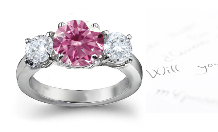 Pink Sapphire and Diamond Halo Engagement Ring in Platinum