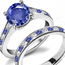 Sapphire Ring Phenomena (Asterism 6 and 12 rays) Chatoyancy, Color Hange from blue to purple)