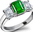 GIA Appraised 14k Gold Emerald Ring with certified Diamonds