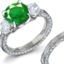 The emerald, which is of green color, is nourished with oil