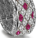 mesmerizing ruby eternal dome & arch band