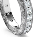 Platinum set flexible flat bracelets of marquise, pear, square, round or oblong diamonds