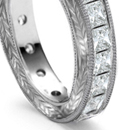 Diamond bracelets of narrow, or broad flat trellis, herringbone and other open-work effects