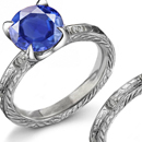 Sapphire Wedding Ring with Diamonds