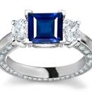 Ring Sapphire Diamond Cluster