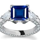 Mens Diamond Sapphire Ring