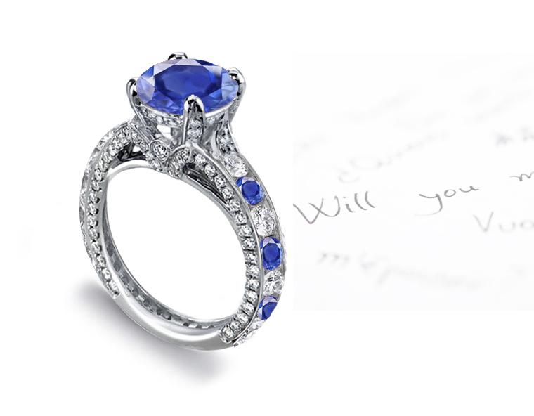 Sapphire Engagement Rings Estate Vintage Antique Collection