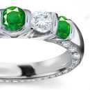manup and speak straight from your heart and gift her this most beautiful green piece