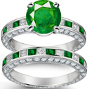 Bluis Green Hue and Medium Tone Muzo, Columbian Emerald Ring with