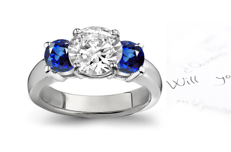 RING STYLES BEAUTIFULLY CREATED SAPPHIRE DIAMOND RING