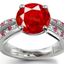 Tanzania Ruby Ring with Diamonds