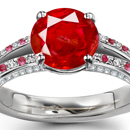 Madagascar Ruby Ring with Diamonds