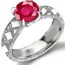 Fine Art Collector Ruby Antique Ring with 2.75 carats fine Burma Rubies