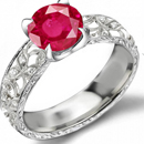 Natural Ruby Collector Ring with 3.65 carats sparkling diamonds and 2.25 carats ceylon rubies