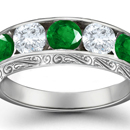 The round brilliant looks classic in simple settings and blends harmoniously with elaborate rings