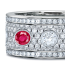 Eternity rings are symbols of love, commitment, romance and eternity