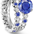 NEW! Blue Sapphire & Russian Amber Heart .925 Sterling Silver Ring Sizes 5 6 7 8 9