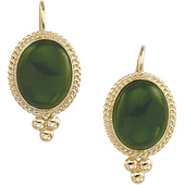Real Green Jade Earrings